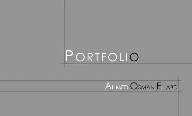 Portfolio Cover Pages Templates Unique Ahmed Osman Portfolio