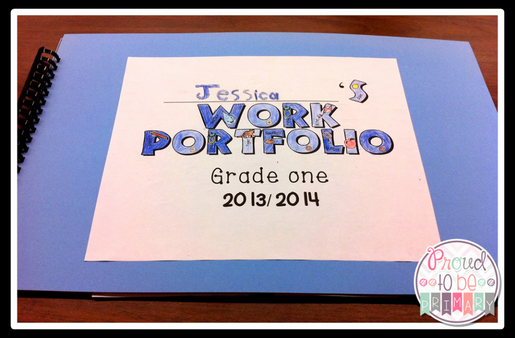 Portfolio Title Page Template Awesome Preparing Student Portfolios for Student Led Conferences – Proud to Be Primary