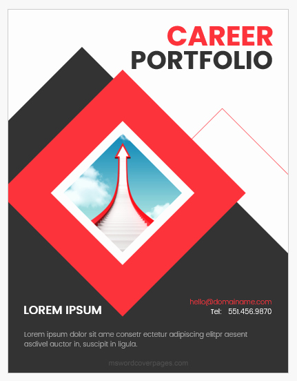Portfolio Title Page Template Beautiful Career Portfolio Cover Page Templates Word