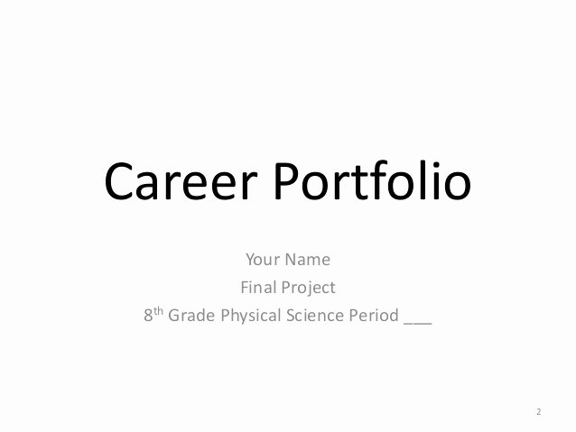 Portfolio Title Page Template Beautiful Example Career Portfolio