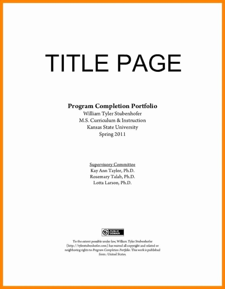 Portfolio Title Page Template Best Of Portfolio Cover Page Template – Resume Cover Page Template 42 Related Files