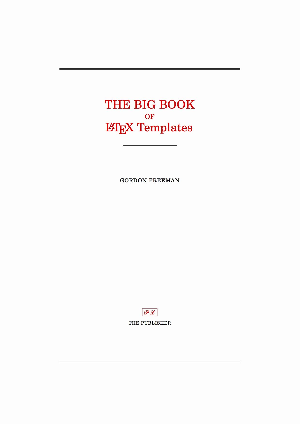 Portfolio Title Page Template Unique Latex Templates Title Pages