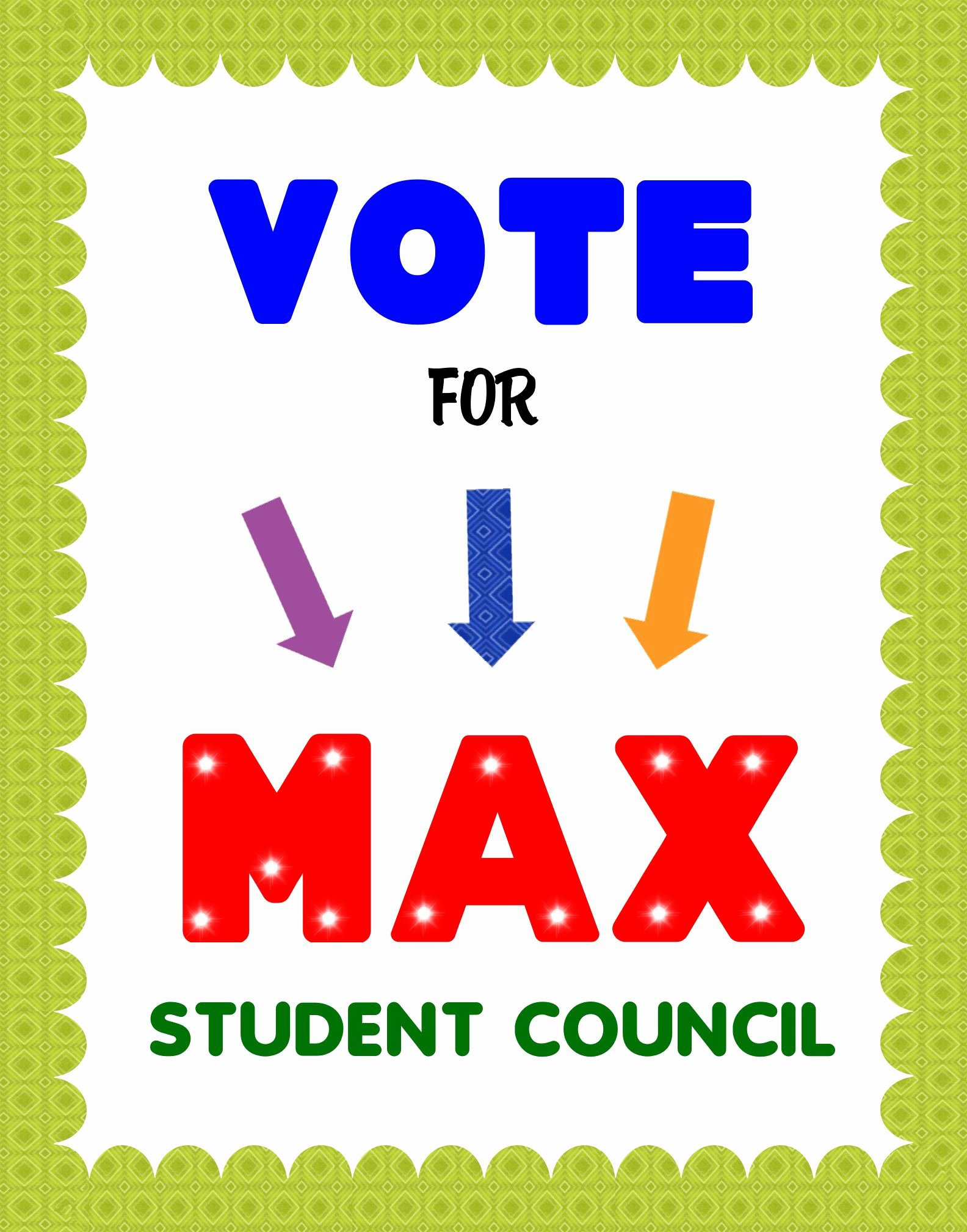 Posters for Student Council Elegant Create A Vote for Student Council Poster Election Campaign Poster Ideas