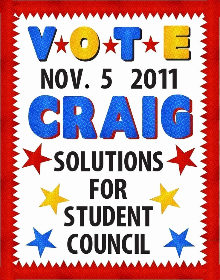 Posters for Student Council Luxury Make A School Election Poster Voting for Student Council Poster Ideas