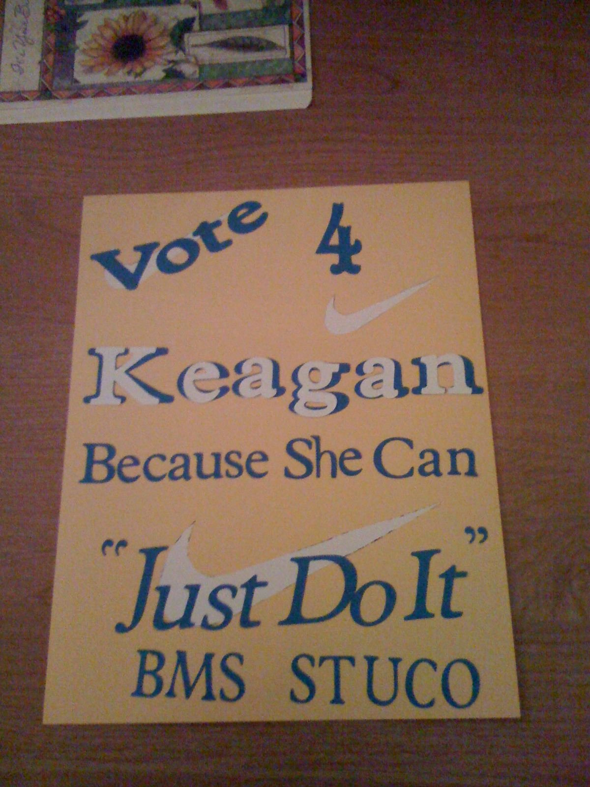 Posters for Student Council New Student Council Poster Just Do It Kev & Kids