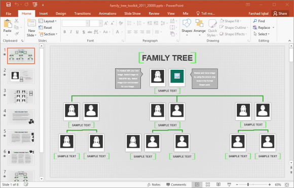 Powerpoint Family Tree Template Inspirational Animated Family Tree Powerpoint Template Fppt