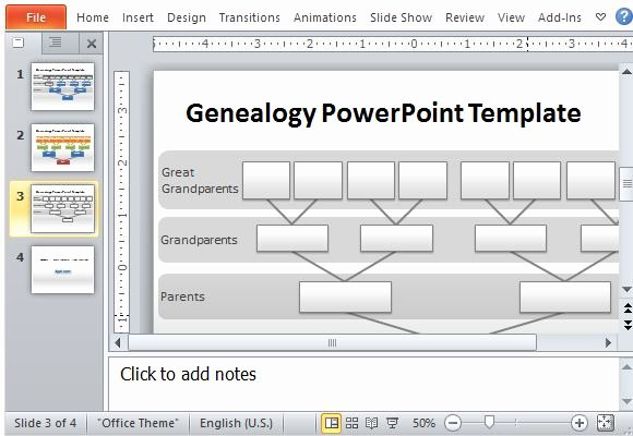 Powerpoint Family Tree Template Lovely Genealogy Tree Powerpoint Template