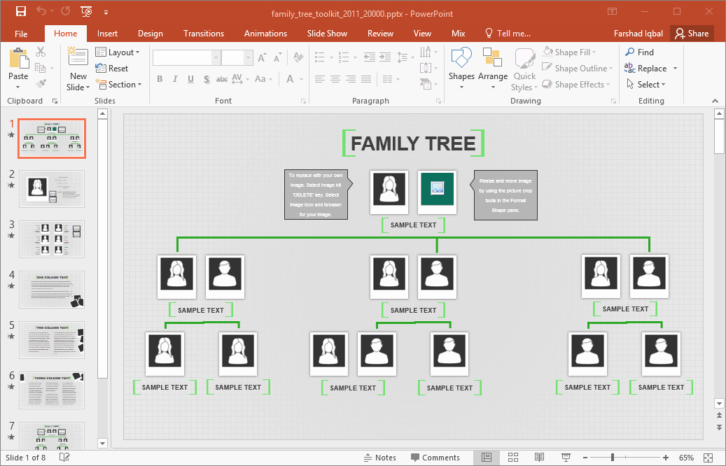 Powerpoint Family Tree Template Unique Family Tree Template for Excel