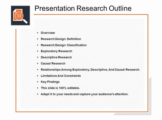 Powerpoint Presentation Outline Template Inspirational Presentation Research Outline Powerpoint topics