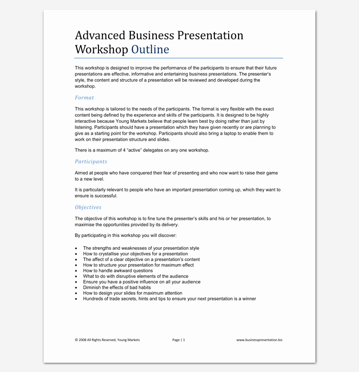 Powerpoint Presentation Outline Template Luxury Presentation Outline Template 19 formats for Ppt Word