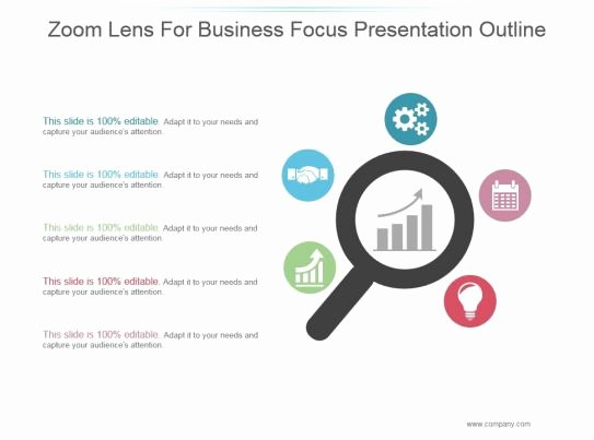 Powerpoint Presentation Outline Template New Zoom Lens for Business Focus Presentation Outline