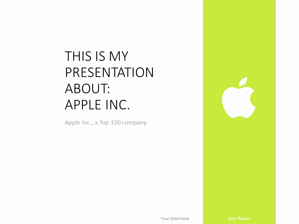 Powerpoint Templates for Mac Inspirational Apple Powerpoint Template Green Presentationgo