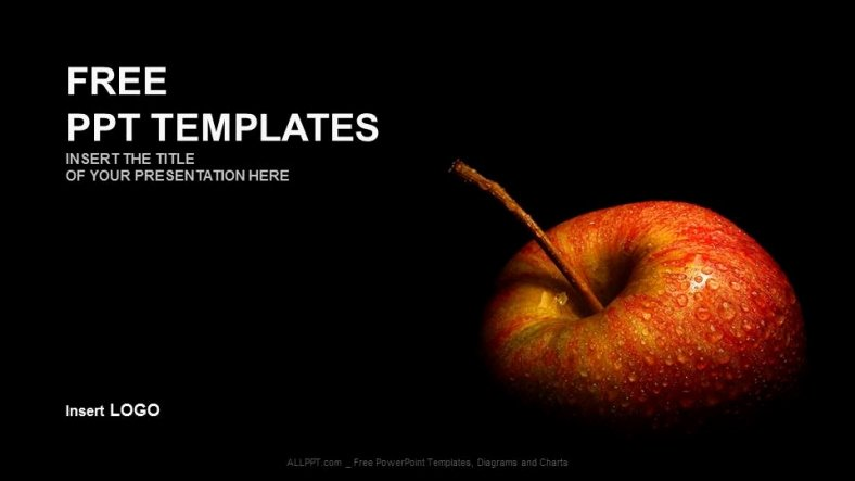 Powerpoint Templates for Mac New Flesh Apple Food Ppt Templates