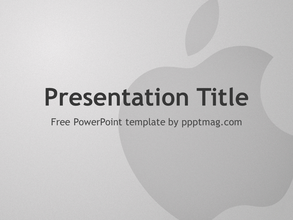 Powerpoint Templates for Macs Elegant Free Apple Powerpoint Template Pptmag