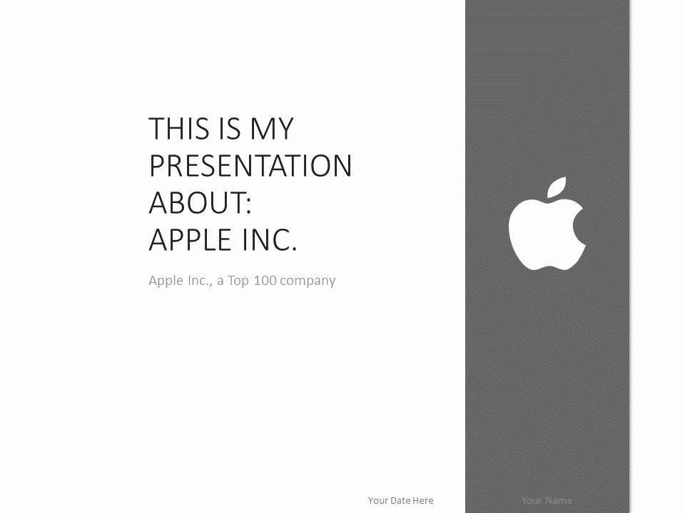 Ppt Templates for Mac Best Of Apple Powerpoint Template Grey Presentationgo