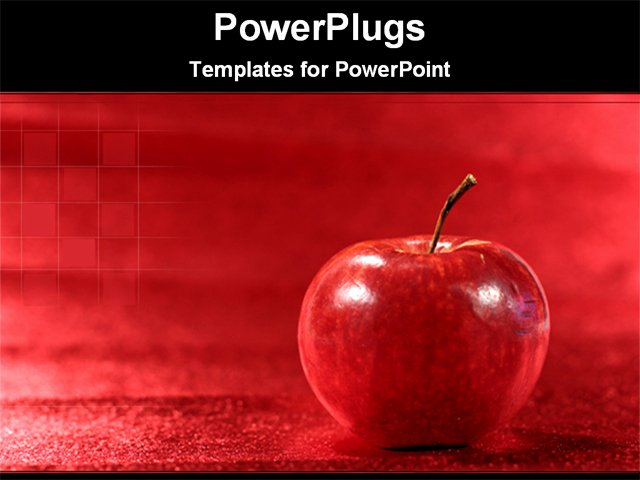 Ppt Templates for Mac Fresh Apple In A Red Background Powerpoint Template Background