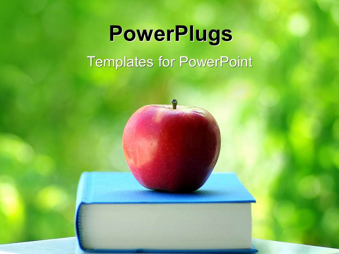 Ppt Templates for Mac Fresh Powerpoint Template Red Apple On Blue Colored Book with