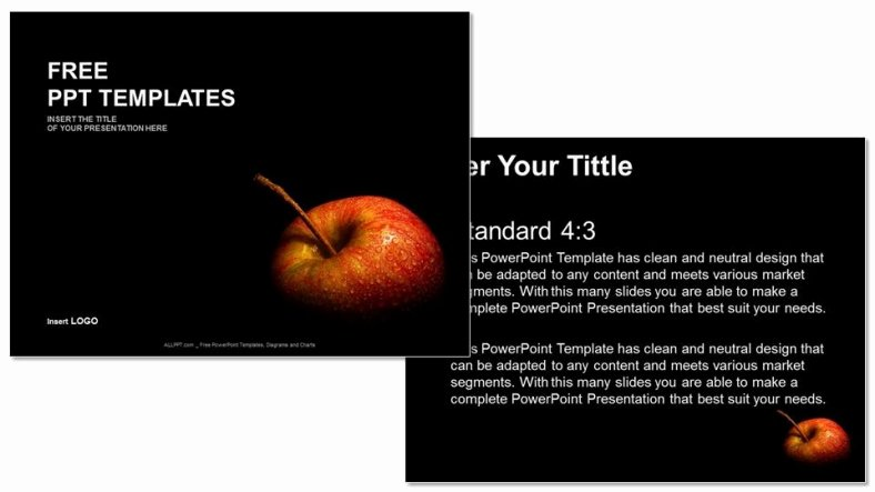Ppt Templates for Mac Lovely Flesh Apple Food Ppt Templates