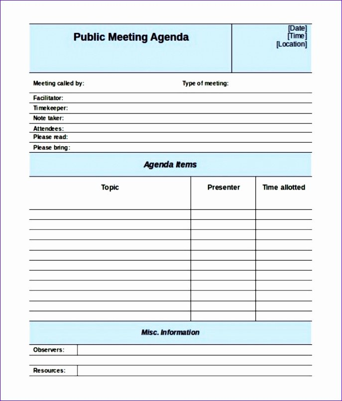 Pre Construction Meeting Agenda Template Fresh 6 Meeting Minutes Template Excel Exceltemplates
