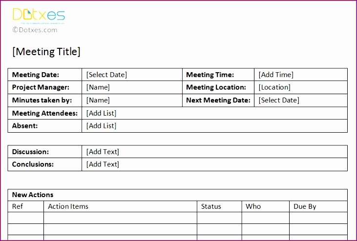 Pre Construction Meeting Agenda Template Inspirational 6 Meeting Minutes Template Excel Exceltemplates