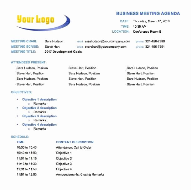 Pre Construction Meeting Agenda Template Lovely Free Meeting Agenda Templates Smartsheet