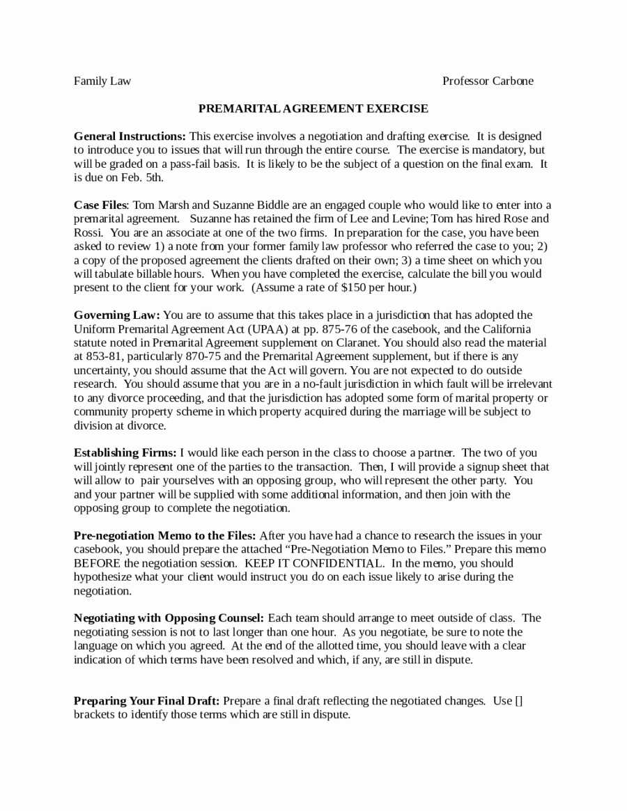 Prenuptial Agreement form Pdf Inspirational Prenuptial Agreement Family Law Edit Fill Sign Line