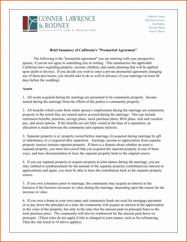 Prenuptial Agreement Sample Pdf Best Of Prenuptial Agreement Sample