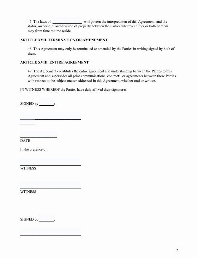 Prenuptial Agreement Sample Pdf Fresh Free Prenup form