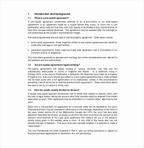Prenuptial Agreement Sample Pdf Inspirational Prenuptial Agreement Template – 10 Free Word Pdf Document Download