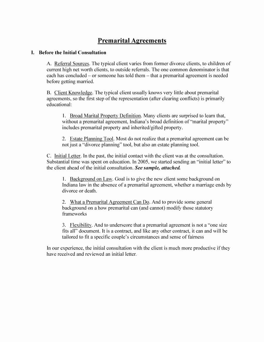 Prenuptial Agreement Sample Pdf Lovely 30 Prenuptial Agreement Samples & forms Template Lab