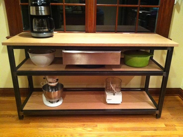 Prep Sheets for Kitchen Lovely Kitchen Prep Table with Oak top & Shelves Welded Steel Tubing Frame and Stainless Drawer