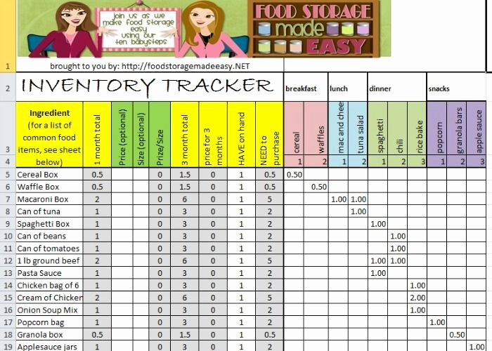 Prep Sheets for Kitchen New Food Storage Inventory Tracker Storage Food List