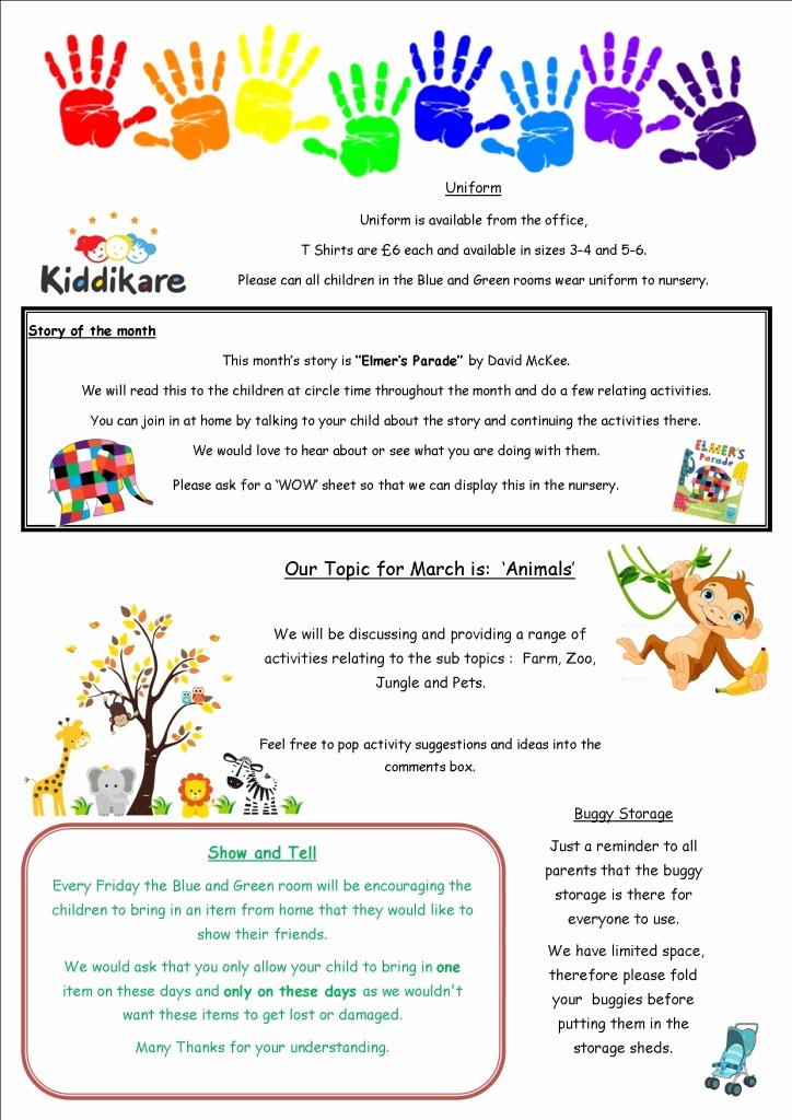 Preschool Newsletters for Parents Fresh March 2015 Newsletter Kiddikare Nursery