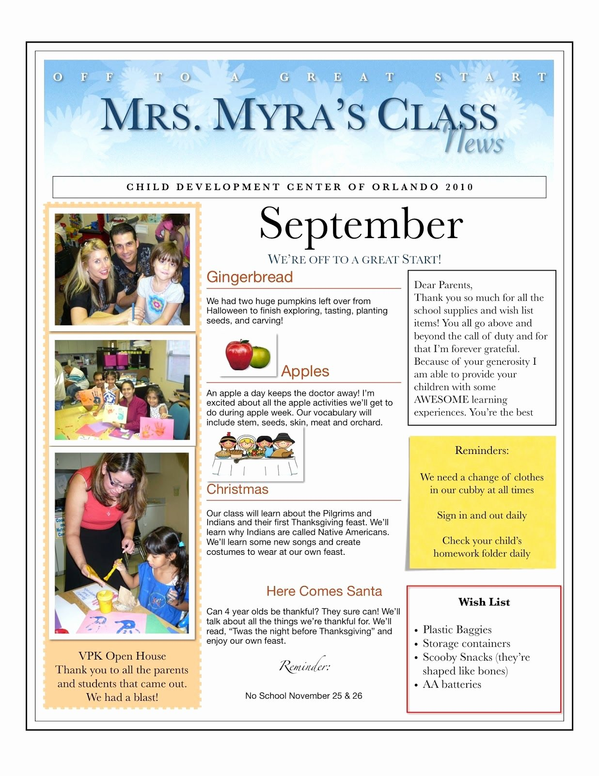 Preschool Newsletters for Parents Unique Centers and Circle Time the Preschool Newsletter Ece Teach