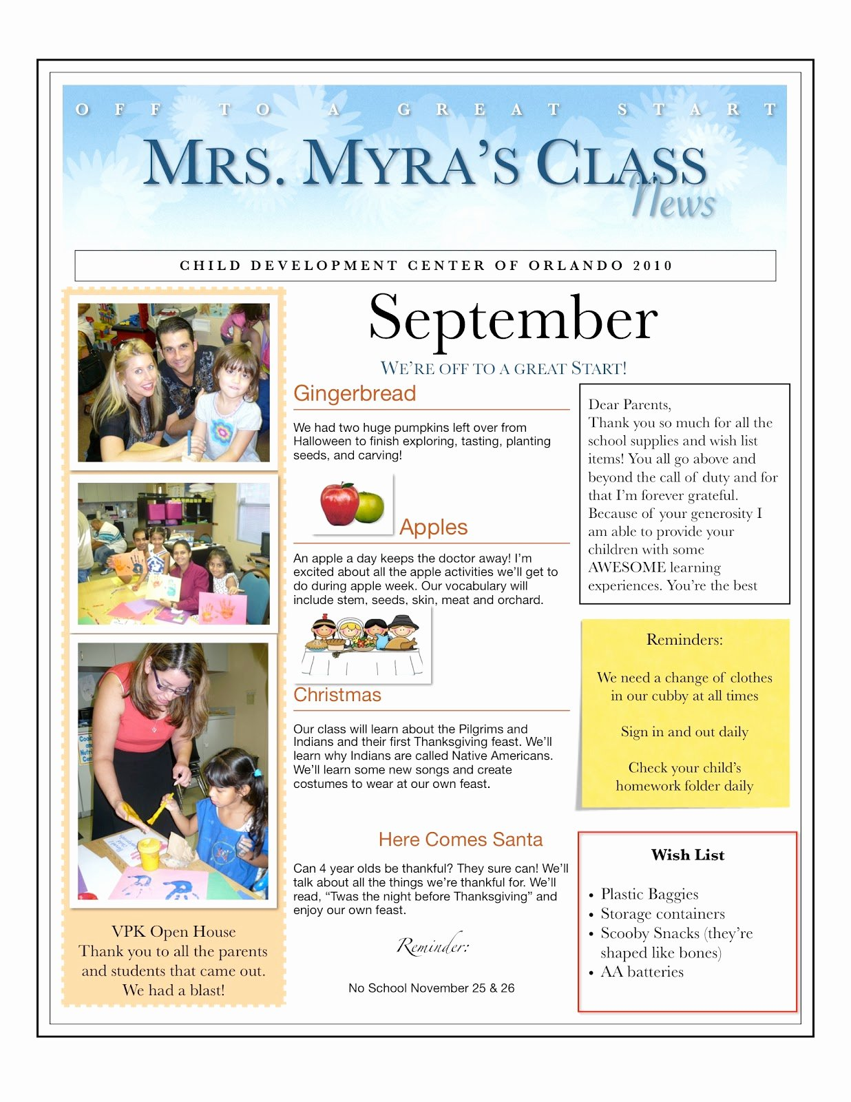 Preschool Newsletters for Parents Unique Centers and Circle Time the Preschool Newsletter