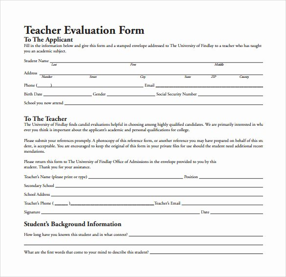 Preschool Teacher Evaluation form New Preschool Teacher Performance Evaluation form