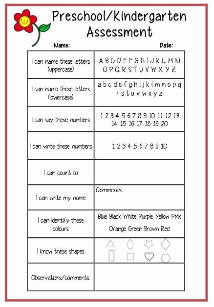 Preschool Teachers Evaluation forms Luxury 97 Best assessment Images On Pinterest