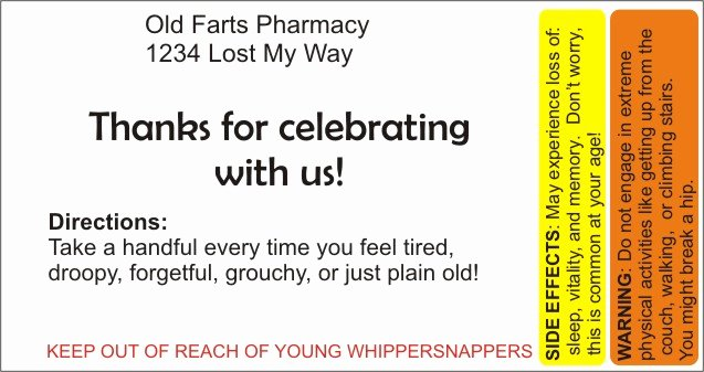 Prescription Label Template Download Elegant Over the Hill – Pill Bottle Party Favors
