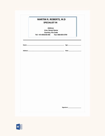 Prescription Label Template Download Luxury 16 Doctor Prescription Templates Pdf Doc