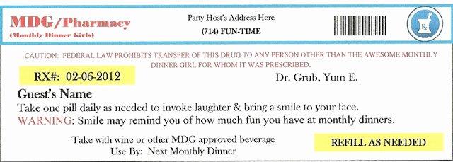 Prescription Label Template Download Unique Invite and Delight Fake An Injury Party sooo Fun