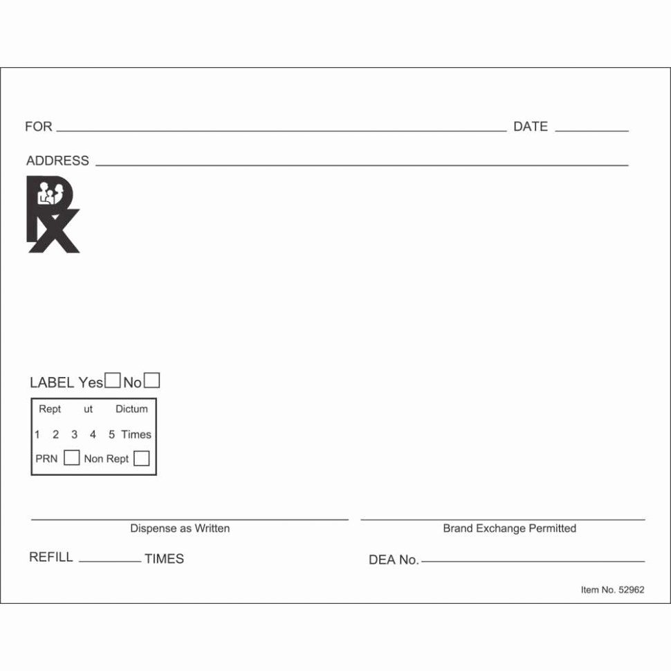 Prescription Pad Template Microsoft Word Beautiful Prescription Label Template Microsoft Word