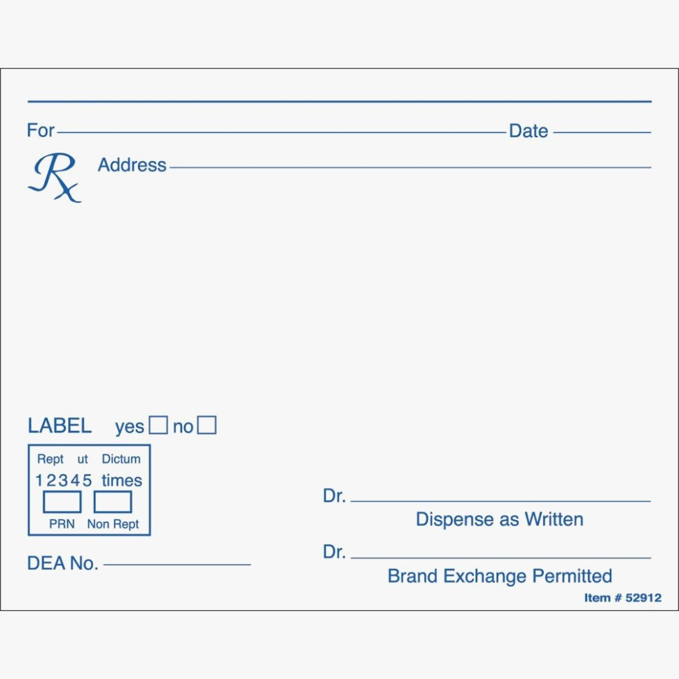 Prescription Pad Template Microsoft Word Fresh Seven Mon Myths About Blank Rx Label