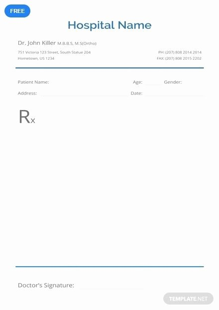 Prescription Pad Template Microsoft Word New Free Blank Prescription Easter