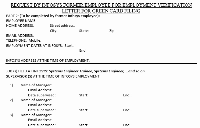 Previous Employment Verification form Awesome Obtaining Infosys Employment Verification Letter – Shalady