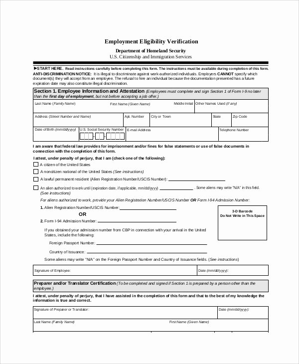 Previous Employment Verification form Awesome Sample Employment Verification form 6 Documents In Pdf