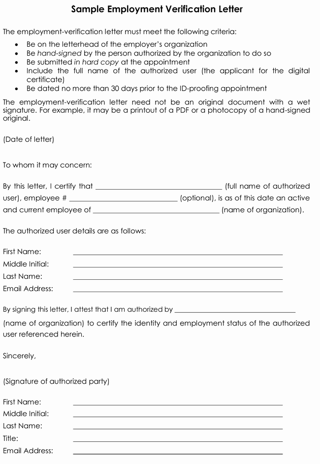 Previous Employment Verification form Inspirational Employment Verification Letter 8 Samples to Choose From