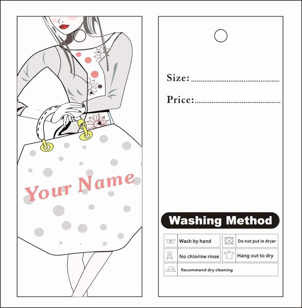 Price Tag Template Printable Best Of Aliexpress Buy Custom Print Hang Tags Price Label