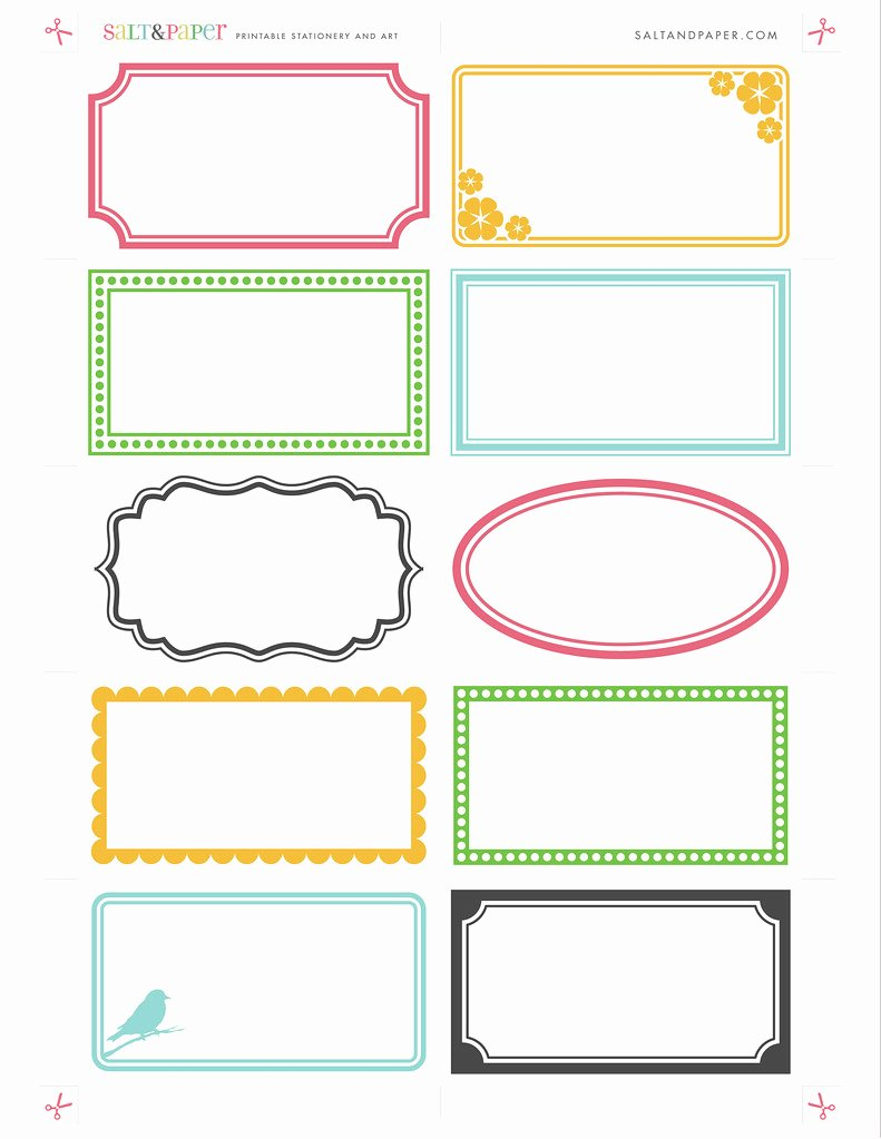 Price Tag Template Printable Inspirational Printable Labels From Saltandpaper