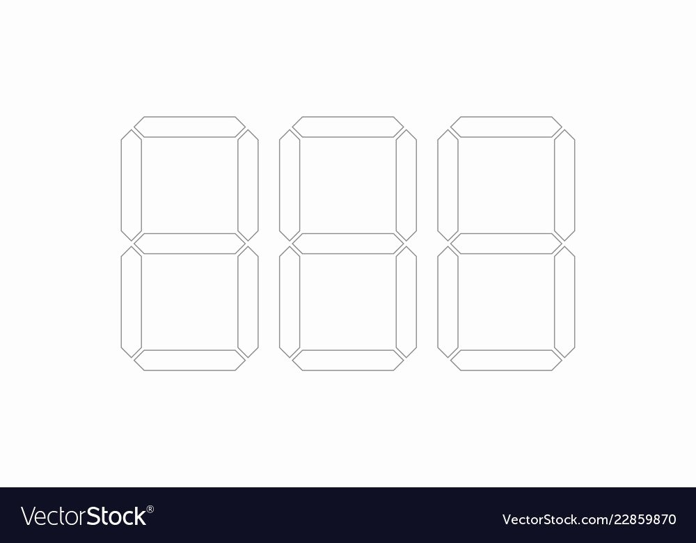 Price Tag Template Printable Unique Digital Price Tag Template Numbers Royalty Free Vector Image