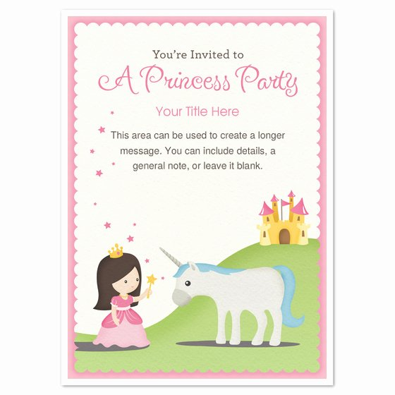 Princess Party Invitation Template Awesome Princess Party Invitations & Cards On Pingg